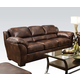 Acme Dax Leather Sofa with Queen Sleeper  in Dark Brown 50609