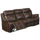 Coaster Myleene Motion Sofa in Chestnut 603021