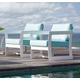 Skyline Design Lyon Arm Chair in White Matte 22901