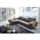 J&M Furniture1727 Premium Leather Sectional LAF in Brown 178581-LHFC-BR
