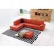 J&M Furniture 625 Italian Leather Sectional LAF in Pumpkin 175443111-LHFC-PK