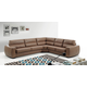 ESF Furniture Rafael Sectional w/Sleeper in Light Brown