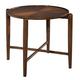 Hekman Mid Century Modern Round Side Table in Walnut 951306MW