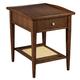 Hekman Mid Century Modern End Table in Walnut 951307MW