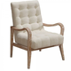 Armen Living Regis Accent Chair in Cream LCRECHCR