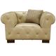 Armen Living Tuxedo Chair in Beige LCTU1BE