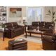 New Classic Archer 2-Piece Living Room Set in Tobacco