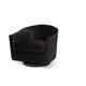 AICO Studio Loren Swivel Chair in Black ST?LOREN39?MDN?SL