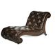 AICO Victoria Palace Leather Armless Chaise 61941-DPBRN-29