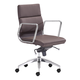 Zuo Modern Engineer Low Back Office Chair in Espresso 205897