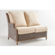 South Sea Outdoor Barrington One Arm Loveseat LSF in Chestnut 77762