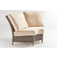 South Sea Outdoor Barrington Sectional Wedge Corner in Chestnut 77753