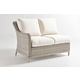 South Sea Rattan Mayfair Outdoor One Arm Loveseat LSF in Pebble 77862