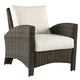 South Sea Outdoor Panama Chair in Charcoal Brown 78401
