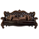 Acme Versailles Sofa w/ 7 Pillows in D.Brown PU & Cherry Oak 52120A