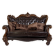 Acme Versailles Loveseat w/ 5 Pillows in D.Brown PU & Cherry Oak 52121A  EST SHIP TIME IS 4 WEEKS