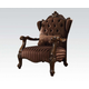 Acme Versailles Chair w/ 1 Pillows in Brown Velvet & Cherry Oak 52082 EST SHIP TIME IS 4 WEEKS