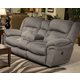 Catnapper Joyner Power Lay Flat Reclining Console Loveseat in Slate