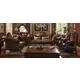 Acme Versailles 2-Piece Living Room Set in Golden Brown Velvet & Cherry Oak