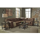 Bladen 3-Piece Sectional Living Room Set in Coffee