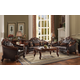 Acme Vendome 2-Piece Living Room Set in Cherry