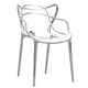 FineMod Brand Name Dining Chair in Silver (Set of 2) FMI10067-SILVER