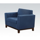 Acme Lucius Chair in Blue Linen 52837