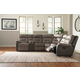 Hacklesbury 3-Piece Sectional Living Room Set in Brownstone