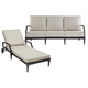 A.R.T Morrissey Outdoor 2pc Sullivan Outdoor Living Set in Charcoal