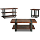 Klaussner Timber Forge 3PC Occasional Table Set