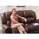 Catnapper Messina Power Headrest Lay Flat Reclining Console Loveseat in Walnut 64229 CODE:UNIV20 for 20% Off