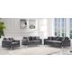 Meridian Naomi 2pc Velvet Living Room Set in Grey