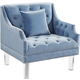 Meridian Roxy Velvet Chair in Sky Blue 635SkyBlu-C
