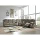 Segburg 3pc Living Room Set in Cobblestone
