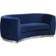 Meridian Furniture Julian Velvet Loveseat in Navy 621Navy-L