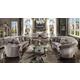 Acme Versailles 4pcs Crescent Sofa Living Room Set in Velvet & Antique Platinum 568