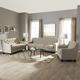 Baxton Studio Arcadia 3-Pc Sofa Living Room Set in Light Beige