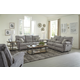 Catnapper Furniture Sadler 2pc Lay Flat Reclining Living Room Set in Mica