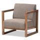 Baxton Studio Valencia Lounge Chair in Brown BBT8019-CC-Gravel-TH1308