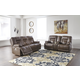 Wurstrow 2pc Power Reclining Living Room Set in Umber