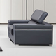 J&M Furniture Soho Chair in Grey Leather 176551113-C-GR