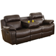 Homelegance Furniture Marille Double Reclining Sofa in Brown 9724BRW-3