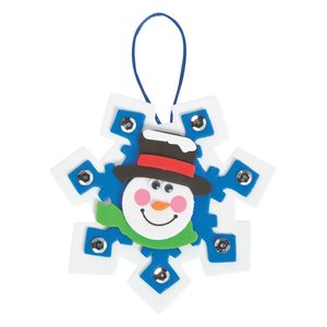 3 Snowman Snowflake Foam Ornaments  Craft Kit Christmas Gift