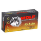 Wolf Performance Ammo Gold G45HP1 45ACP SJHP 185 50rds