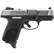 Ruger SR9c Stainless/Black 9mm 3.4-inch 17Rd
