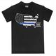 Glock Short Sleeve Blue Line T Shirt Large Black