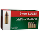 Sellier and Bellot 9MM SUBSONIC 140GR FMJ 50 ROUNDS