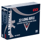 CCI Ammunition AR Tactical .22LR 40gr Copper-plated Round Nose 300rds