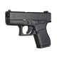 Glock 43 Semi Auto Pistol Black 9mm 3.39 inch 6 Round Fixed Sights