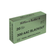 Sellier and Bellot .300 AAC Blackout 124gr FMJ 20rds